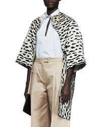 Valentino Oversized Leopard Print Dolman Coat