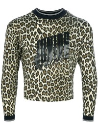 Jean paul gaultier vintage leopard print sweater medium 114594