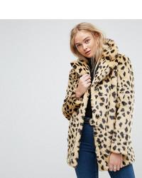 Asos Tall Asos Tall Faux Fur Coat In Leopard