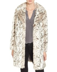 Faux leopard fur coat medium 807159