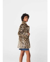 Leopard faux fur coat medium 6744410