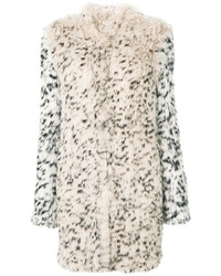 Leopard print fur coat medium 6744417