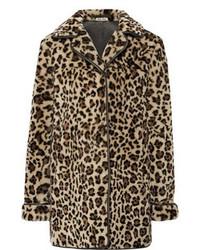 Leopard print shearling coat medium 100476