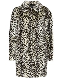 Dorothy Perkins Multi Coloured Leopard Print Faux Fur Dolly Coat