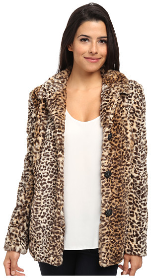 Image 1 Of A P C Lapin Imprime Leopard Fur Jacket In Beige