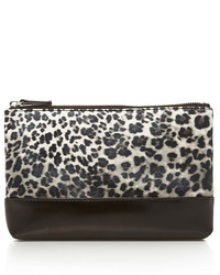 Forever 21 Faux Leather Paneled Leopard Clutch