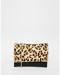 Street level leopard clutch bag medium 349197