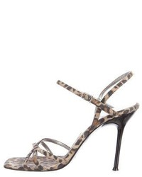 Suede leopard print sandals medium 6698446