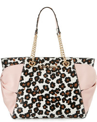 Hotty pocket bow tote bag leopard medium 790423