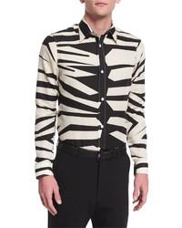 Beige Leopard Long Sleeve Shirt
