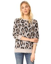 R 13 R13 Leopard Cashmere Sweater