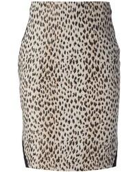 Leopard print pencil skirt medium 36536