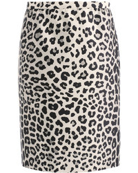 Satin leopard print pencil skirt medium 36537