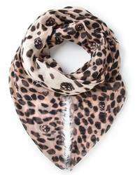Beige Leopard Scarf