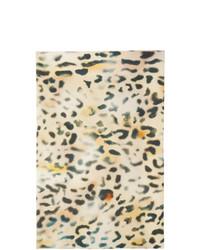Kassl Editions Beige Leopard Padded Tec Scarf