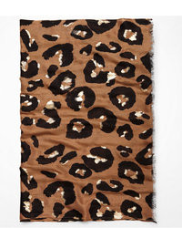 Express Foiled Leopard Oblong Scarf