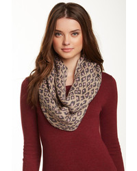 Collection XIIX Leopard Jacquard Knit Infinity Scarf