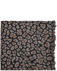 Yohji Yamamoto Leopard Print Scarf