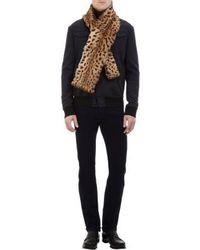 Swanepoel leopard print fur scarf medium 9048