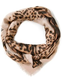 Valentino garavani leopard print scarf medium 127303