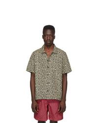 Beige Leopard Short Sleeve Shirt