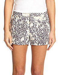 Merci leopard print shorts medium 256733
