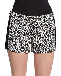 William leopard print tuxedo shorts medium 256730