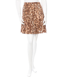 Michael Kors Michl Kors Silk Printed Mini Skirt
