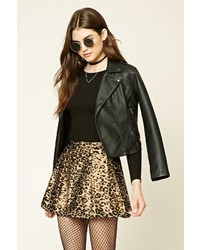 Forever 21 Pleated Leopard Print Skirt