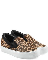 Leopard printed slip on sneakers medium 321435