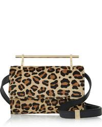 M2Malletier Fabricca Mini Leopard Print Calf Hair Shoulder Bag