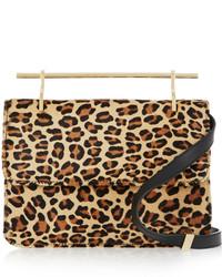 M2Malletier La Fleur Du Mal Leopard Print Calf Hair Shoulder Bag