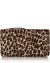 Playboy ii leopard print calf hair box clutch medium 318278