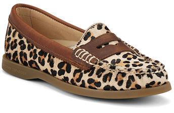 Sperry Hayden Leopard Print Calf Hair