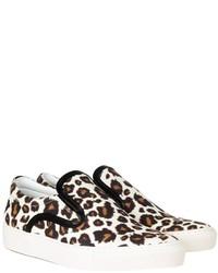 Achilles leopard print canvas slip on sneakers medium 120577