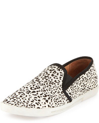 Kidmore leopard print calf hair slip on blackwhite medium 120576