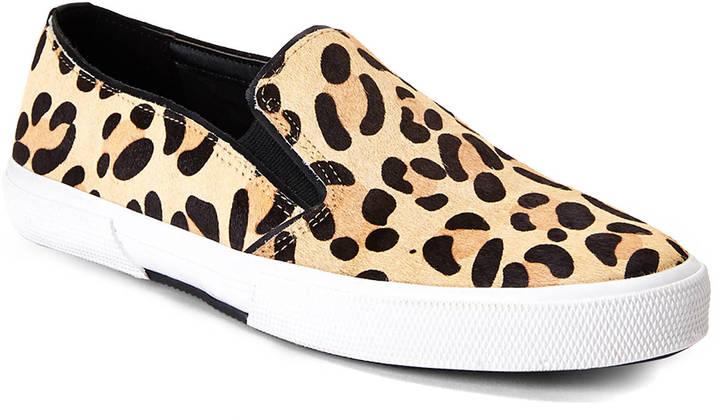Leopard Print Slip On Sneakers, $79