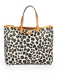 Kerrington leopard print vinyl top handle shopper medium 9003