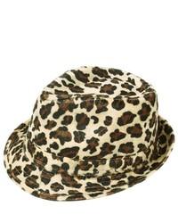 Beige Leopard Wool Hat