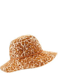 Fifika printed felt hat leopard medium 340248