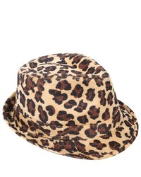 PDS Online Trendy Animal Print Leopard Lady Girl Fedora Hat