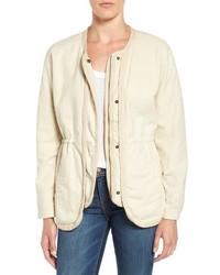 Velvet by Graham & Spencer Collarless Linen Cotton Jacket