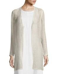 Eileen Fisher Linen Blend Mesh Jacket