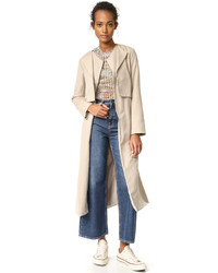 Alani sueded double lapel trench coat medium 1250739