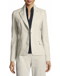 Elie Tahari Ava Fitted One Button Blazer