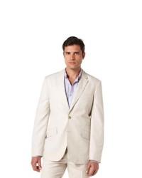 Cubavera cotton linen herringbone blazer medium 223810