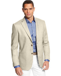 Island solid linen 2 button blazer medium 223797