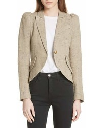 Smythe Leather Elbow Patch Linen Blend Blazer