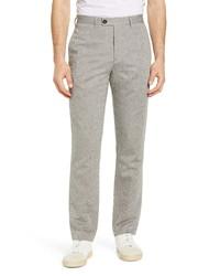 Ted Baker London Slim Fit Linen Cotton Blend Trousers