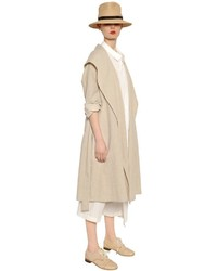 Y's Cotton Linen Canvas Trench Coat